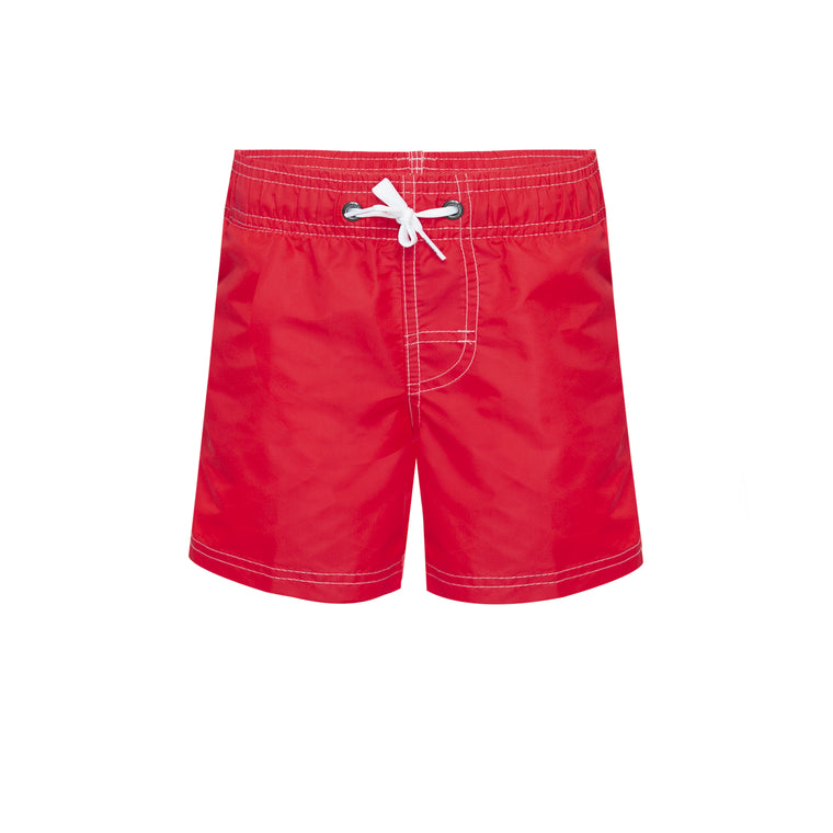 Boys Surf Shorts In Red