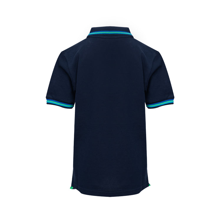 Boys Brice Polo Shirt Pique Navy