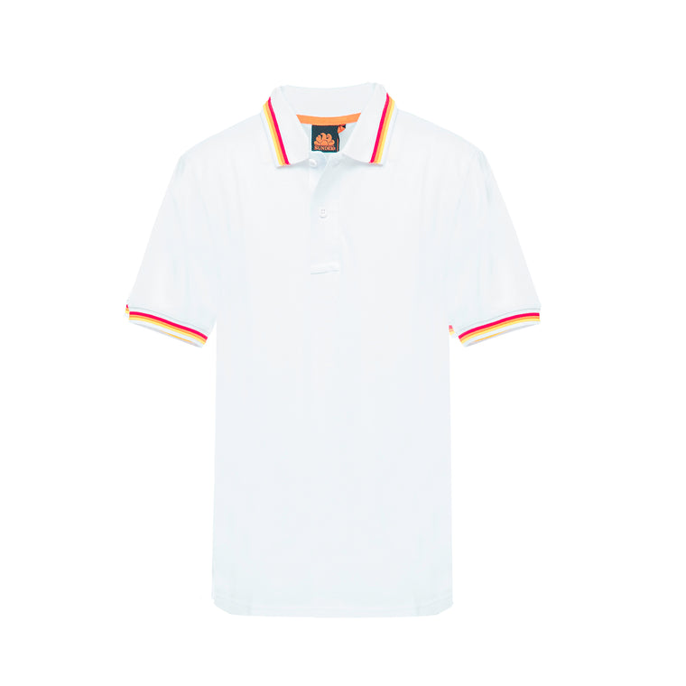 Boys Brice Polo Shirt Pique Vintage White