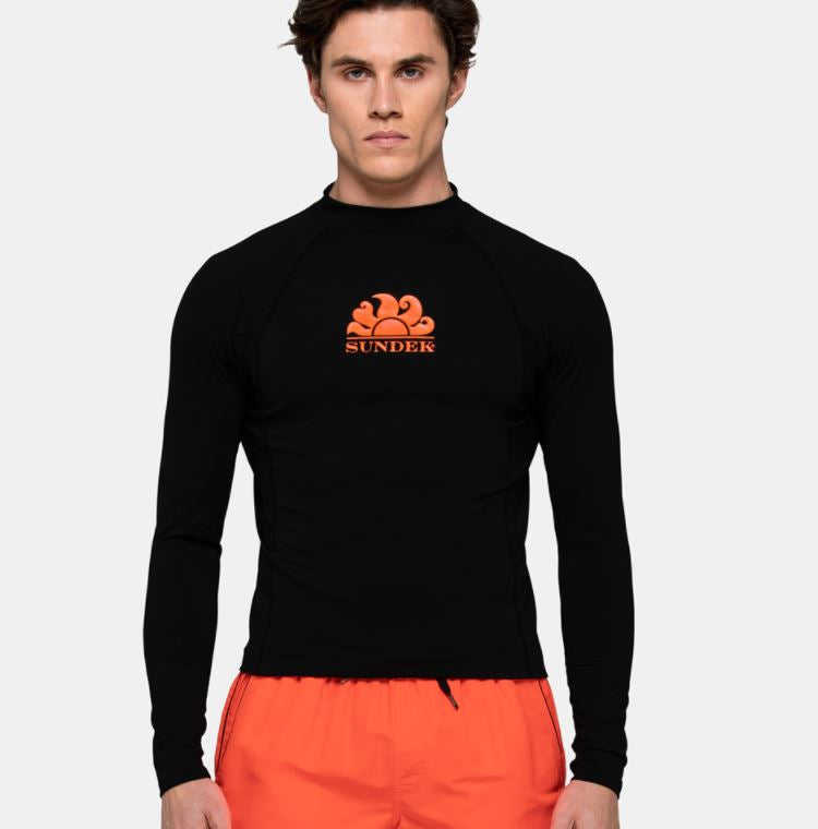 Sundek L/S Rash Guard for Men Black