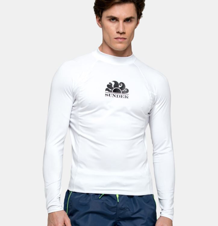 Sundek L/S Rash Guard for Men White