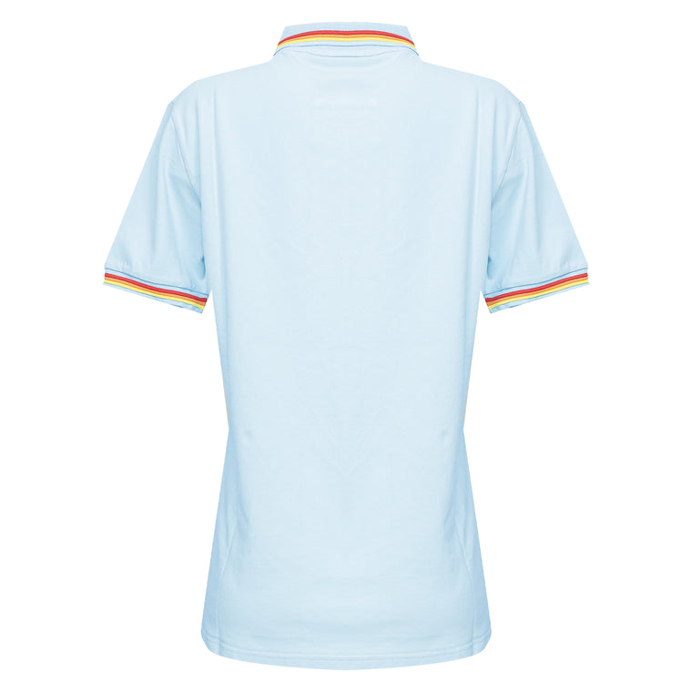 Mens Brice Polo Shirt in Pique Vintage Light Blue