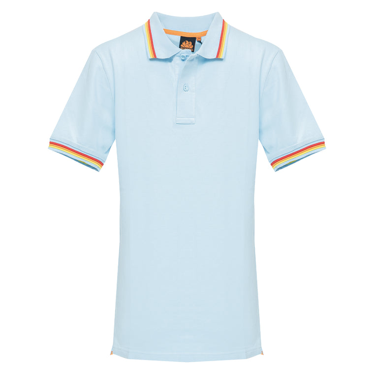 Baby Blue Polo Shirt For Men