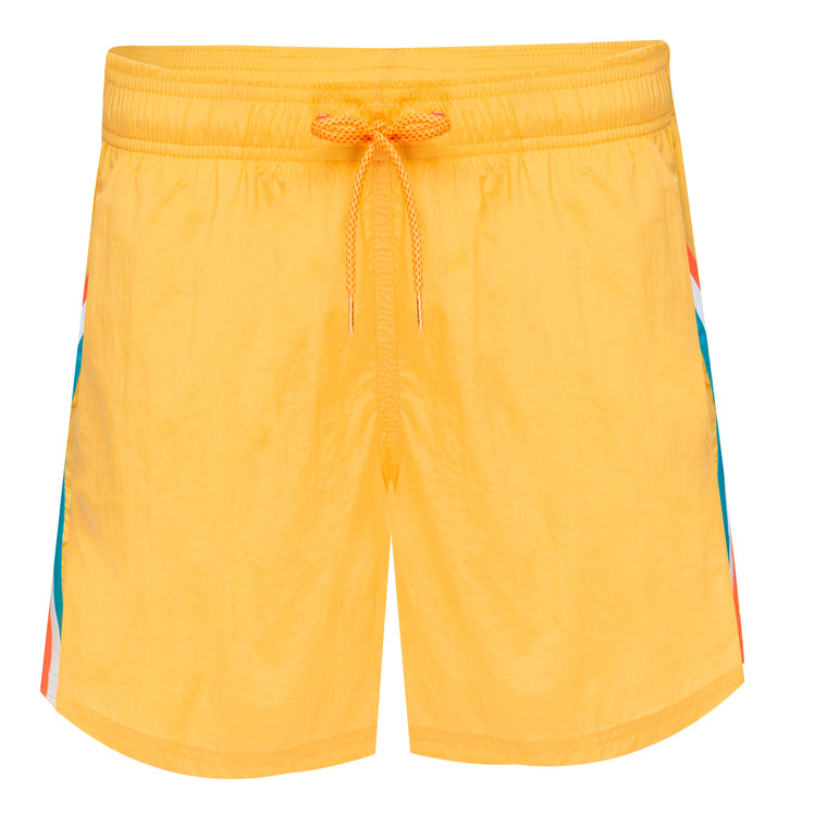 Mens Elastic Waist Swim trunks Cyber Yellow