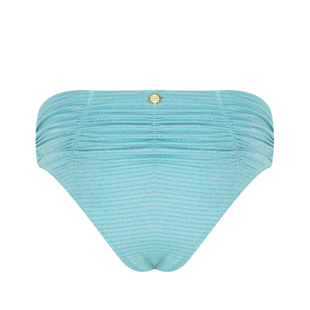 70'S Love High Waisted Cheeky Pant - Turquoise