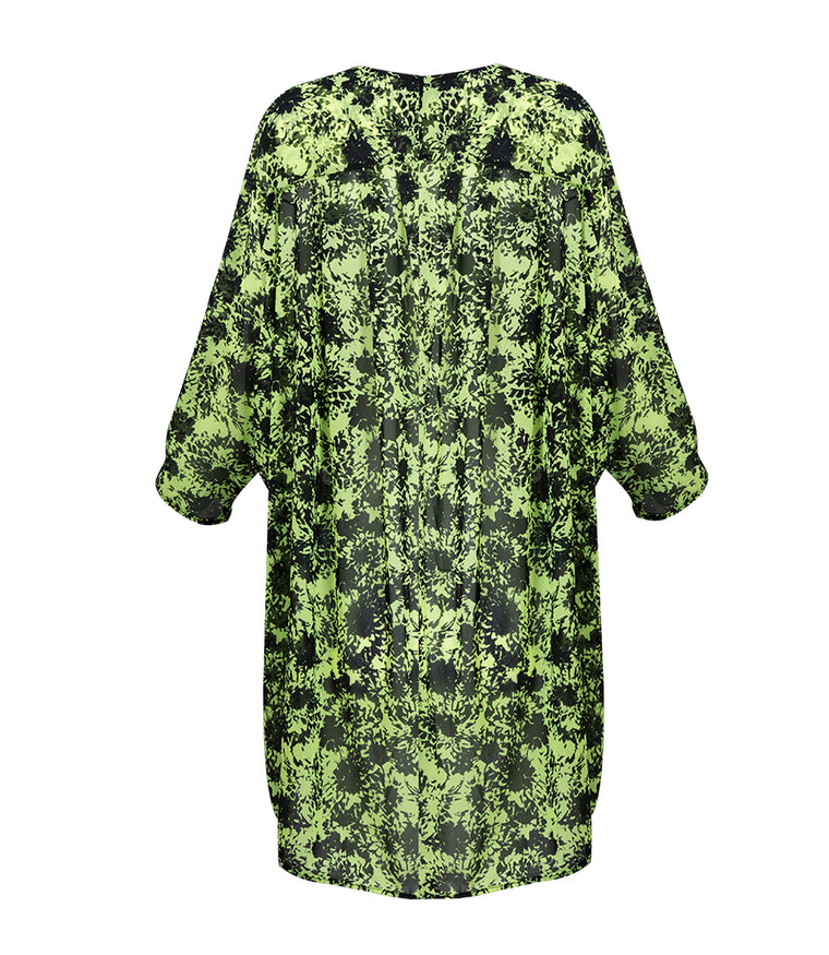 Camilla Kaftan - Black/ Lime
