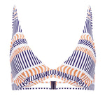 Disrupted Lines Underwire Top with Removable Cups Astral