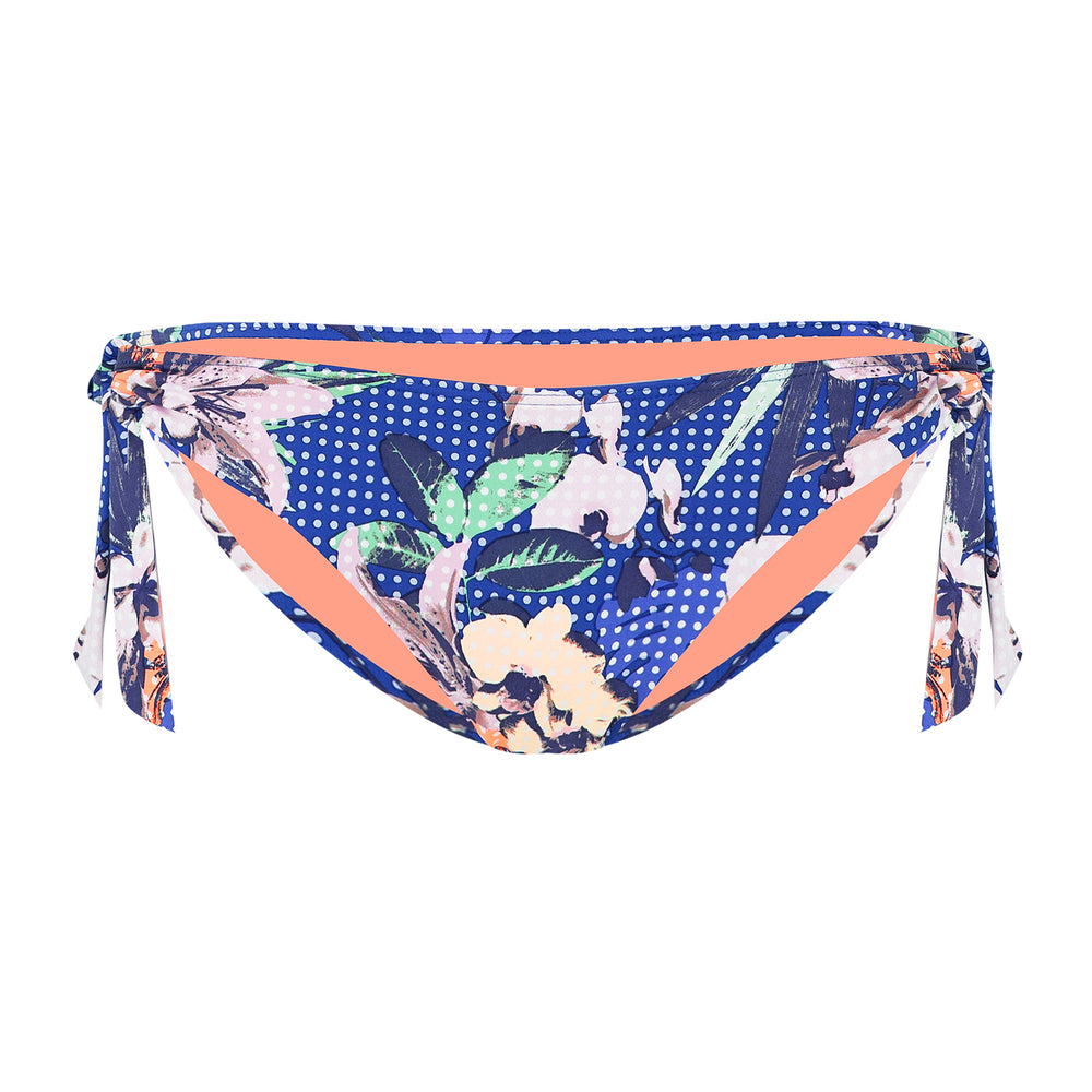 Exotic Floral Bottom Thick Loop Tie Side Hipster
