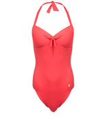 Solid One Piece Halter - Hibiscus