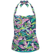 Jungle Fever Ruched Halter Tankini