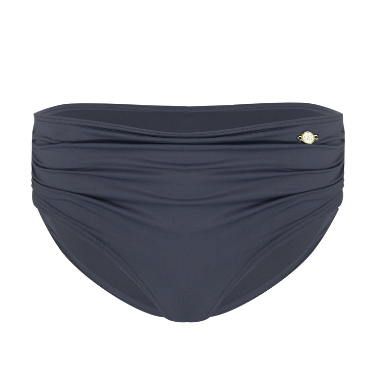 Solid Ruched Boxer - Slate