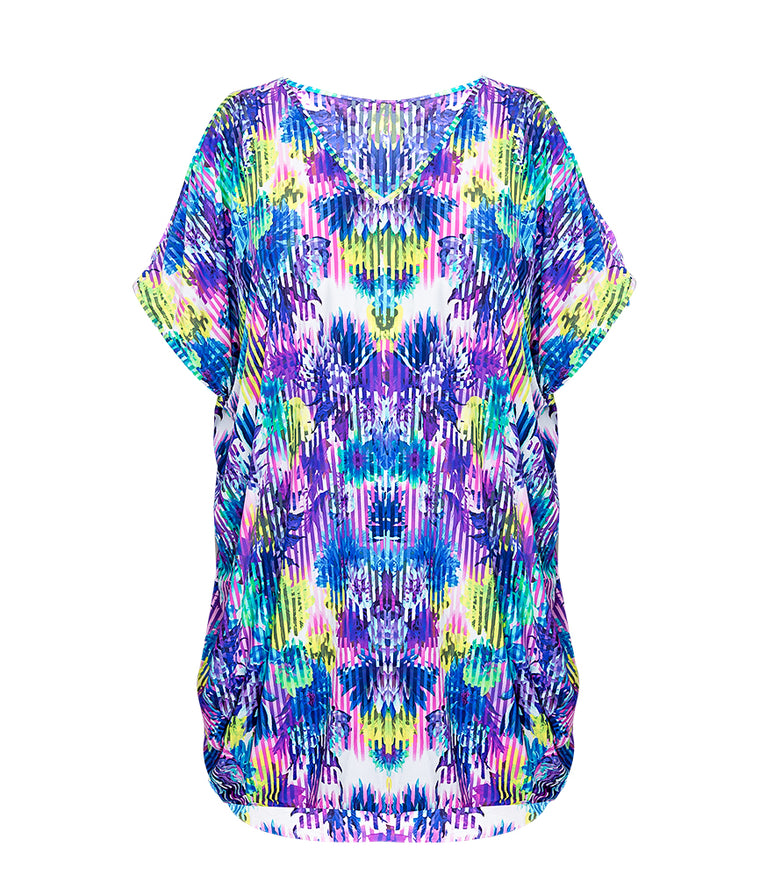 Summer Bright Kaftan - Marine