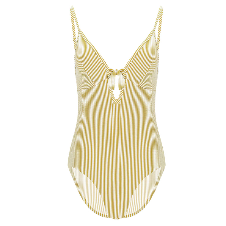 Vintage Prairie One piece with Removable Cups Mustard