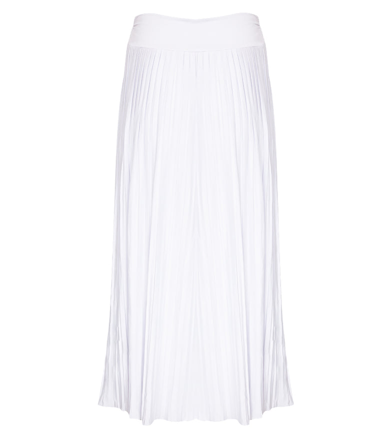 Sunrise Pleated Maxi-Skirt - White