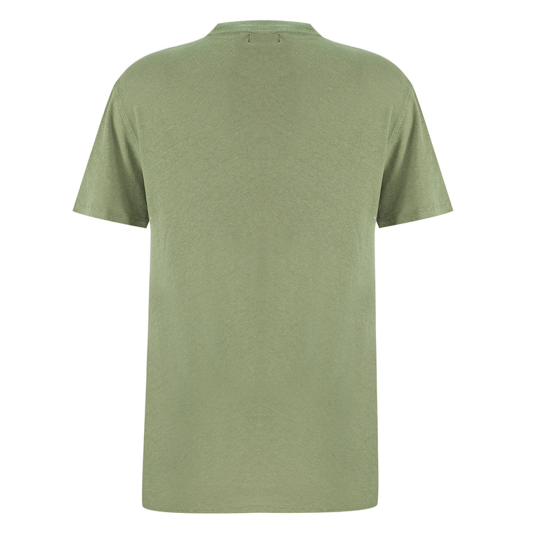 Regular Fit Olive Green T Shirt | cotton linen t shirts