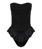 Tacoola Sonita Ruffle One Piece Black