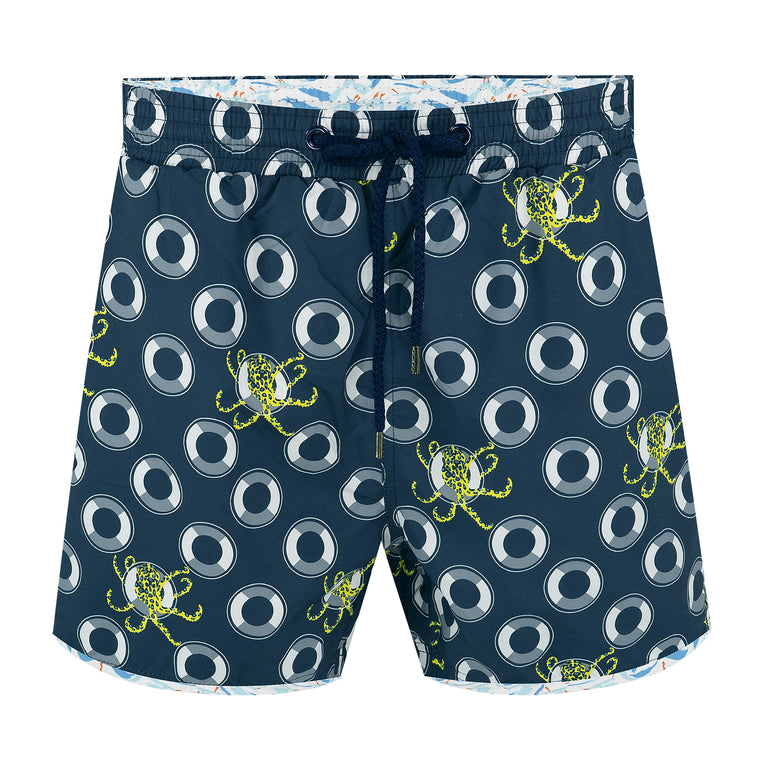 Balmoral Blue Ringed Octopus Men's Swim Short