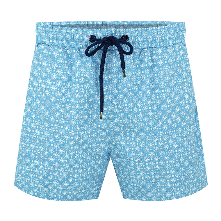 Balmoral Compass Blue Men's Swim Shorts