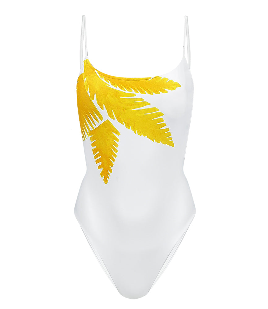 Tamarindo Rosie Brazilian Cut One Piece White