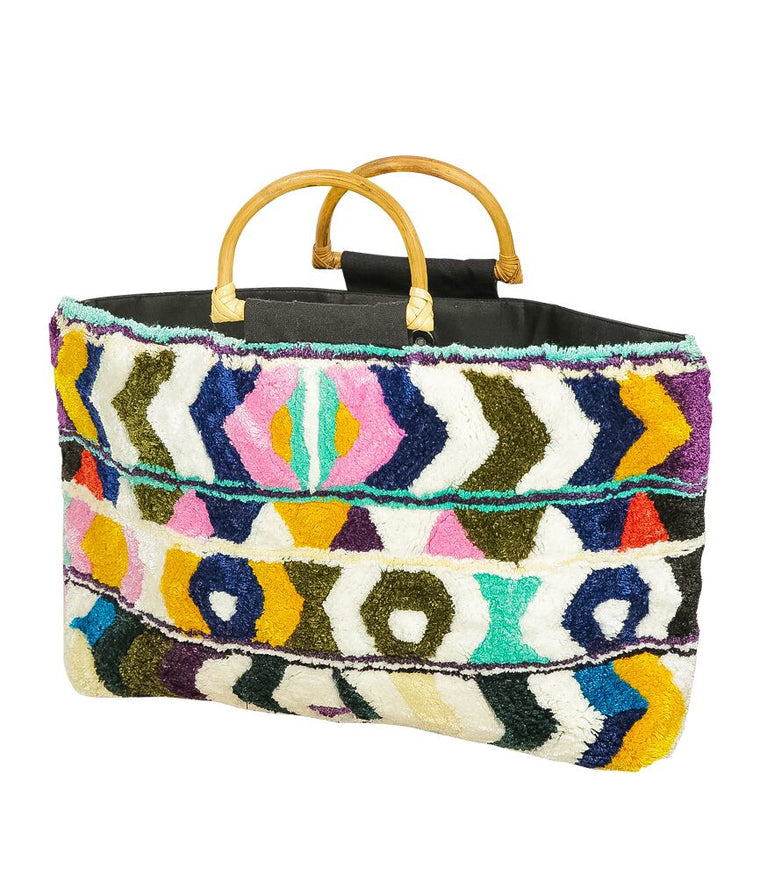 Multi Colour Beach Bag