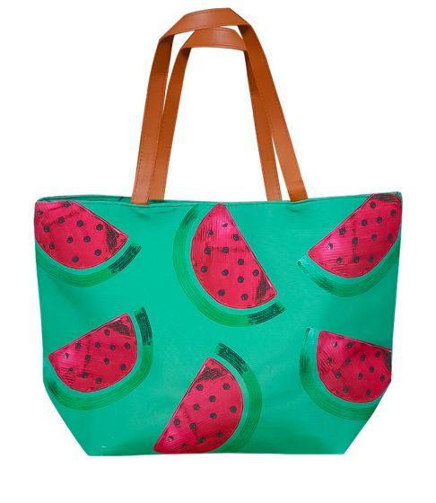 Watermelon Canvas Beach Bag