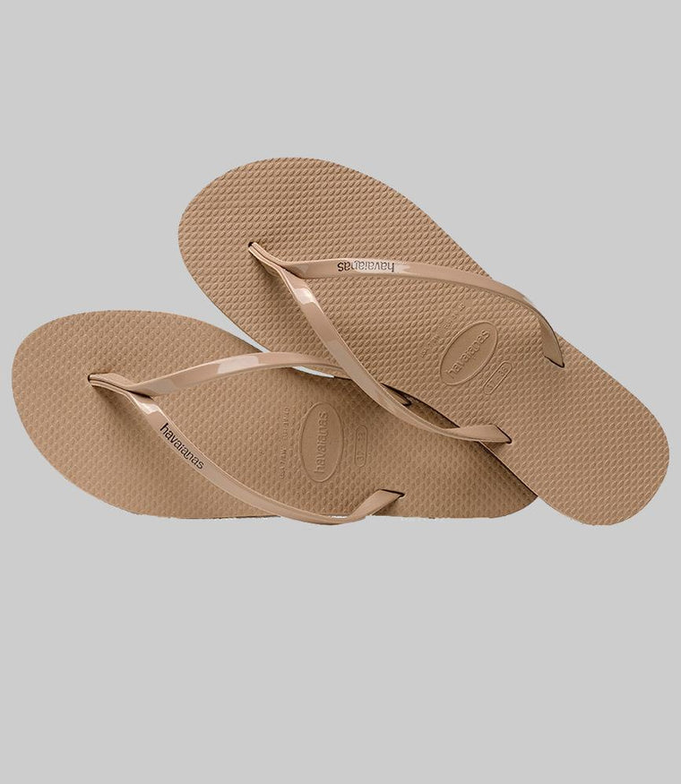 You Metallic Flip Flops Rose Gold