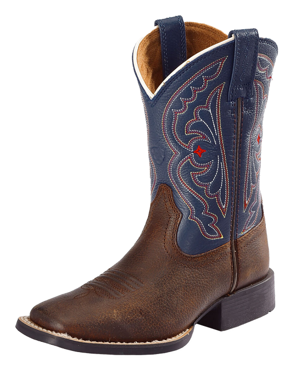 Ariat 10001863 Children's Quickdraw Western Boot Brown Oily