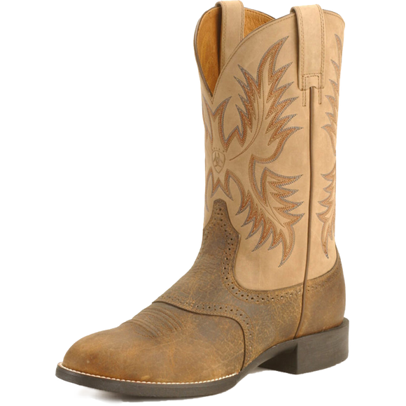 Ariat 10002247 Men's Heritage Stockman Tan/Brown
