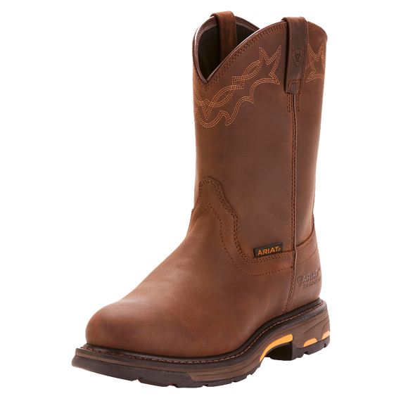 Ariat 10001198 Men's Workhog Waterproof Brown Oily Leather