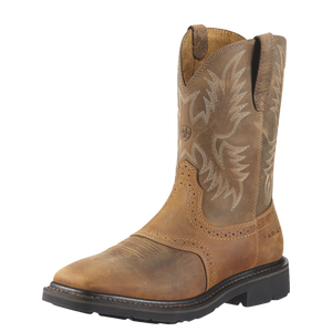 Ariat 10010148 Sierra Work Boot Wide Square Toe Aged Bark