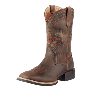 Ariat 10010963 Men's Sport Wide Square Toe Western Boot Brown
