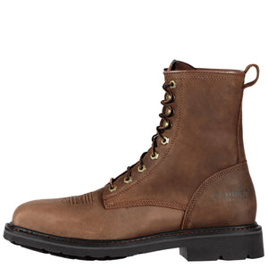 "Ariat 10011917 Men's Cascade 8"" Wide Square Steel Toe Alamo Brown"