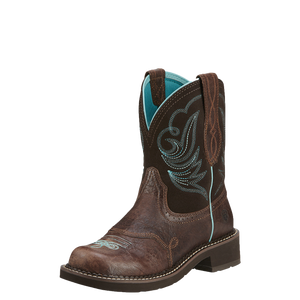 Ariat 10016238 Women's Fatbaby Heritage Dapper Western Boot Royal Chocolate