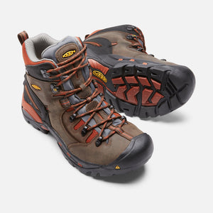 Keen #1009709 Men's Pittsburgh Hiker Soft Brown Orange