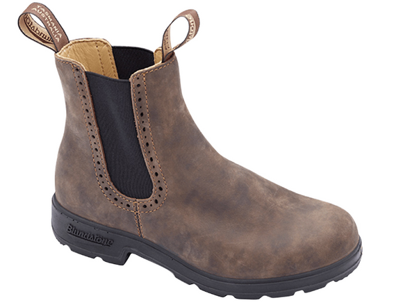 Blundstone #1351 Women's High Top Chelsea Boot Rustic Brown