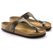 Load image into Gallery viewer, Birkenstock #143941 Women's  Gizeh Birko-Flor Golden Brown