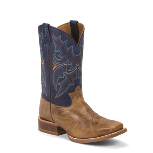 Tony Lama 3R1128 Men's 3R Stockman 11 inch Honey Blue