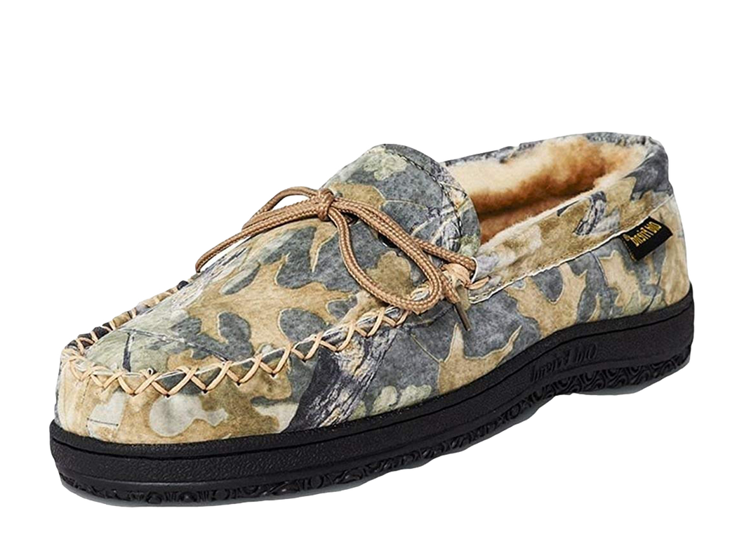 Old Friend 421124 Men's Loafer Moccasin Camouflage Sheepskin