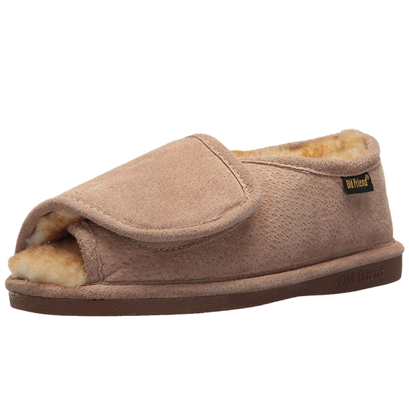 Old Friend 441174 Women's Step in Adjustable Closure Bootee Slipper