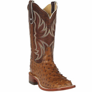 "Tony Lama E1318L Women's Antique Full Quill Ostrich 11"" Iron Top"