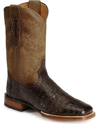Dan Post DP2806 Men's Gel-Flex Caiman Stockman Chocolate Brown