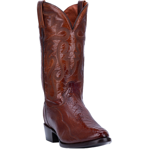 Dan Post DP26636 Men's Bellevue Ostrich Leg Boot Antique Tan
