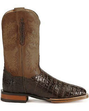 Load image into Gallery viewer, Dan Post DP2806 Men's Gel-Flex Caiman Stockman Chocolate Brown