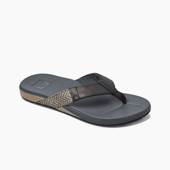 REEF Men's Cushion Phantom (Black) Sandal