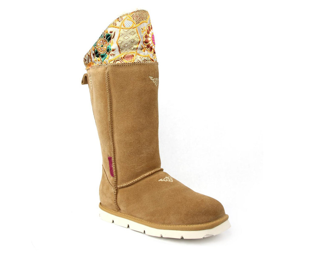 Superlamb Womens Mongol Boot Tan