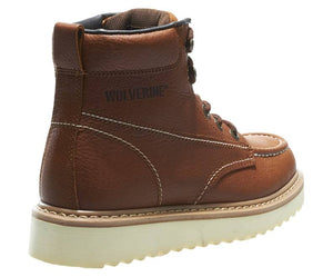 "Wolverine W08288 Men's Moc Toe 6"" Brown"