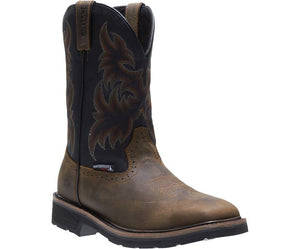 Wolverine #W10765 Men's Rancher Waterproof Steel Toe Wellington Brown