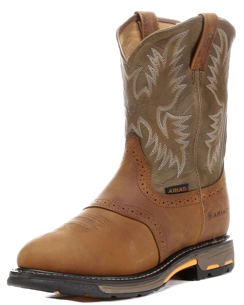Ariat 10001188 Men's Workhog Pull On Soft Toe Work Boot