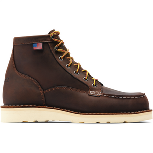 "Danner #15563 Men's Bull Run Moc Toe 6"" Work Boot Brown"