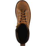 "Danner #17317 Men's Quarry 8"" USA Work Boots Alloy Toe Distressed Brown"